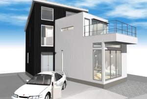 外観デザイン02|三鷹の家
