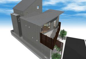 間取りデザイン08|中庭に差し込む自然光を感じる二世帯住宅