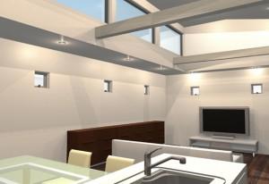 間取りデザイン03|狭小敷地に建てるやさしい自然光を感じる家