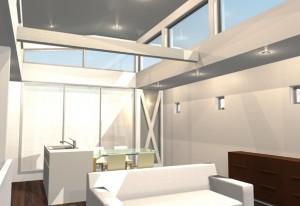 間取りデザイン04|狭小敷地に建てるやさしい自然光を感じる家