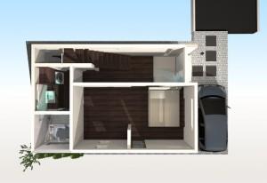 間取りデザイン07 狭小敷地に建てるやさしい自然光を感じる家