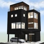 東南角地に建つ開放感溢れる家
