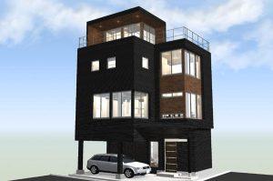 間取りデザイン06|東南角地に建つ開放感溢れる家