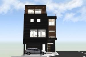 間取りデザイン07|東南角地に建つ開放感溢れる家