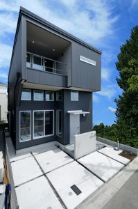 西東京の家 外観|黒い家|箱型